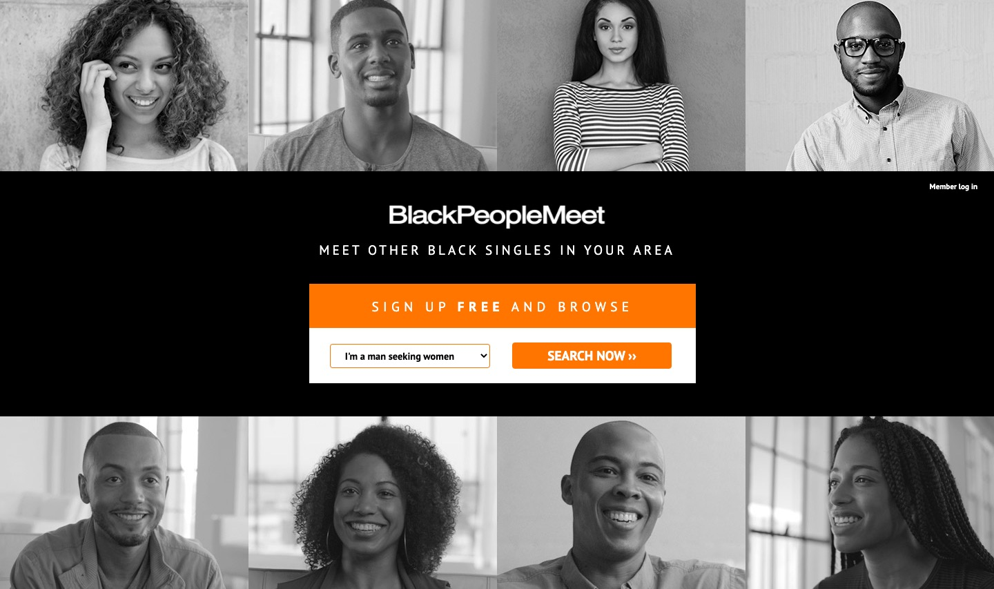 BlackPeopleMeet main page