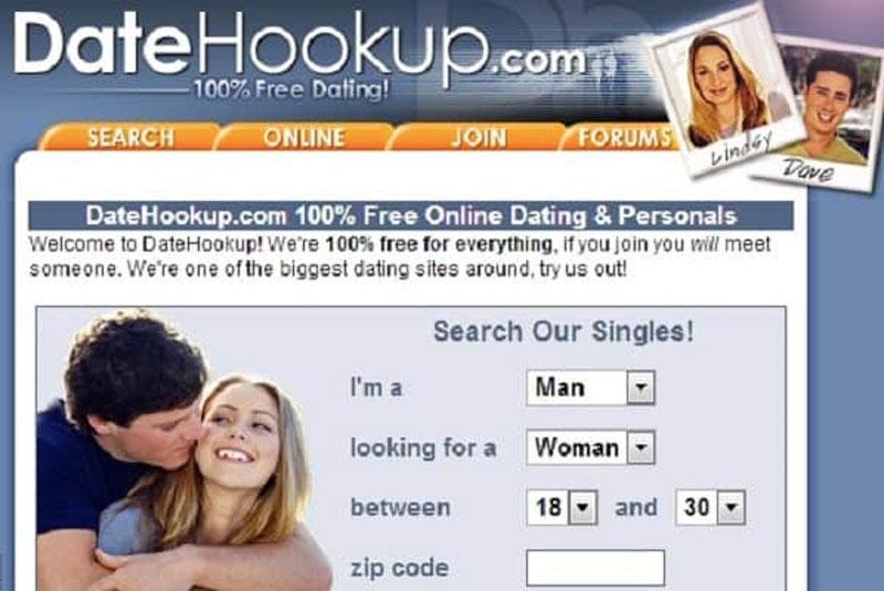 DateHookUp main page