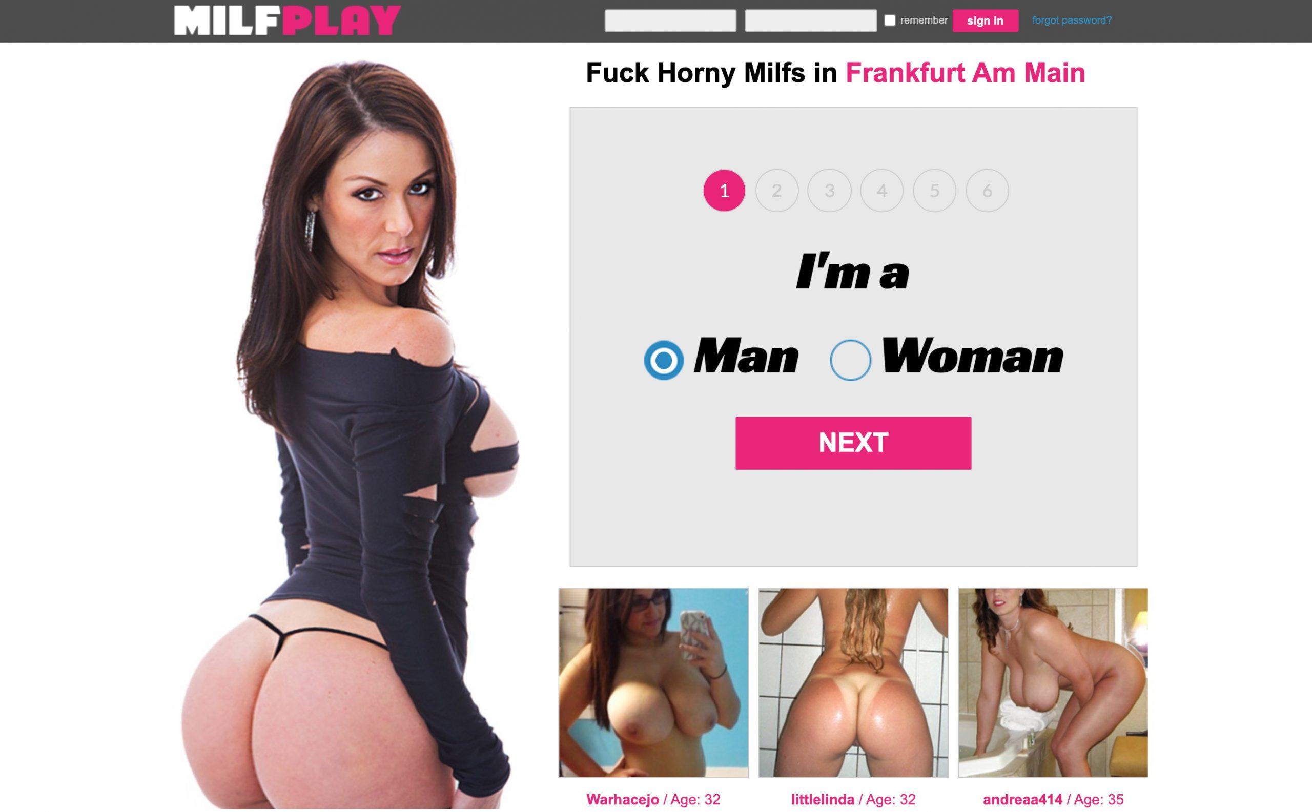 MILFplay main page